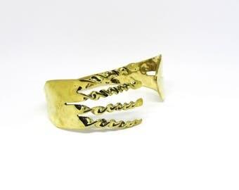 Brass Fork Bracelet, Brass, Mirror  Finished, Women, Men, Teen, BLB 7