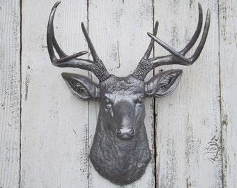 Deer Head~Deer Decor~Choice Color~Deer Hunter~Deer Head Wall Sculpture~Animal Head~Faux Taxi
