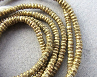 African Brass Heishi -2 Strands
