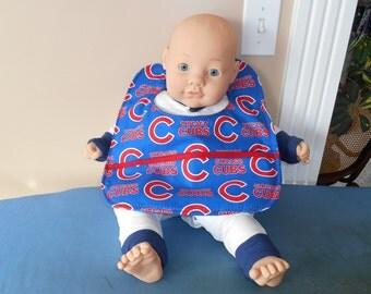 Baby Bib - Chicago Cubs - Pocket - Illinois Sports - Baseball Fan Gift