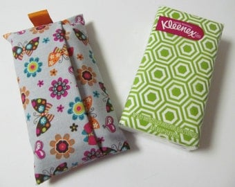 Tissue Case/Butterfly And Flower