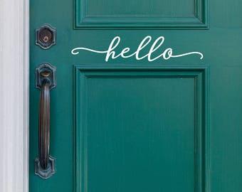 Hello Decal for Front Door or Entryway Decor - Modern Farmhouse Style - Entryway Decor - WB411