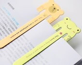 Contracted Aluminum Portable Ruler Notepad Ruler- Bookmarks Ruler