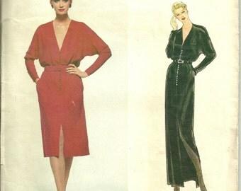 Vogue American Designer Sewing Pattern 2296, Belted Dress Size 14 Bust 38