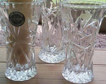 Lenox European Lead Crystal vases set of three