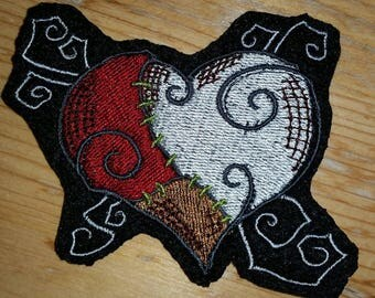 Stitched Heart Patch, embroidered patch