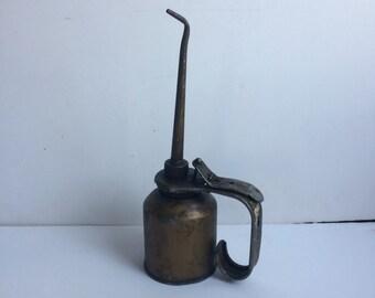 Copper Oil Can Automotive Oil Can Hand Pump Oil Can Steampunk Decor