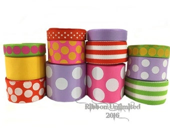 24 Yds LOLLIPOP PRINCESS wholesale grosgrain ribbon collection   Low Shipping Cost
