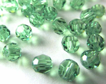 Erinite Green Swarovski #5000 4mm Round Beads (251)