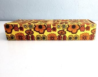 Vintage 1960s Flower Power Funky Trinket Box