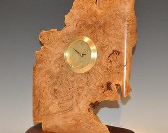 Clock  made of Big Leaf MAPLE BURL and Walnut