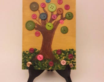 Button Tree in the Fall