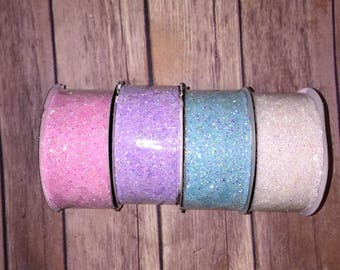 SSD  Small Medium Glitter Lace Hair bow