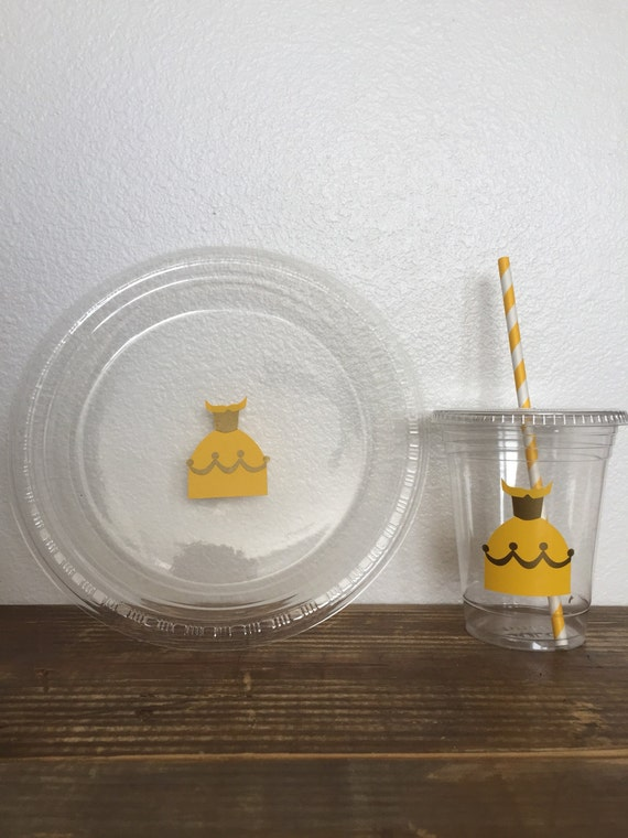 Belle's Dress Beauty and the Beast Party Plates