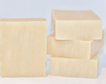 Unscented Shea Butter Cold Process Soap Bar