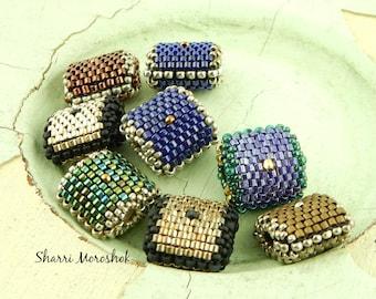 Sale - Reduced 70% - set of 8 Beaded Beads by SharriMoroshok