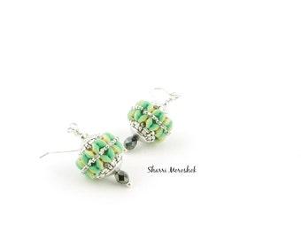 Earrings - beaded beads by Sharri Moroshok