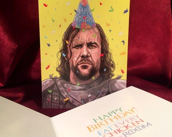 The Hound Game of Thrones BIRTHDAY CARD!