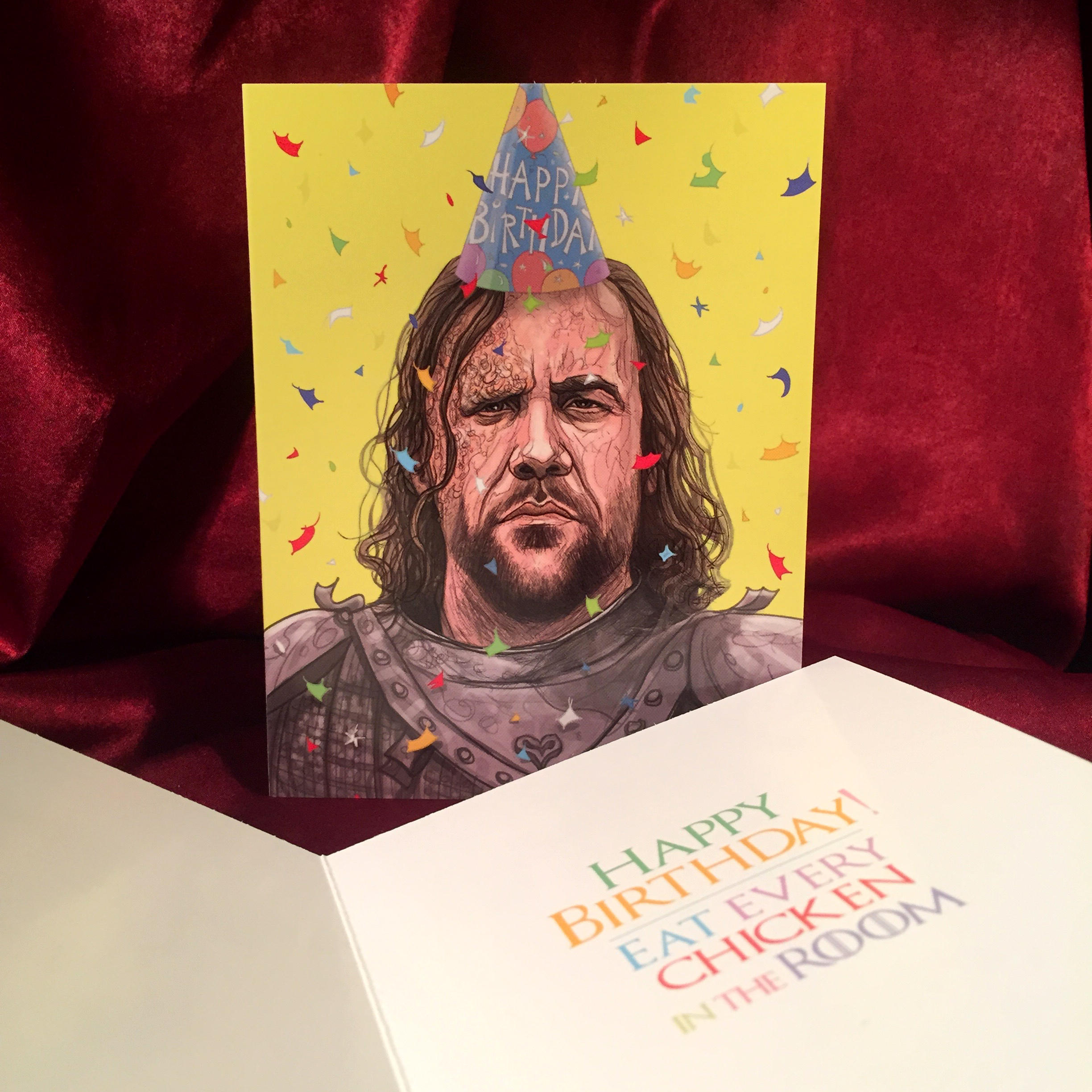 The Hound Game of Thrones BIRTHDAY CARD
