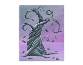 Dark Twisty Tree Whimsical Life Tree Print