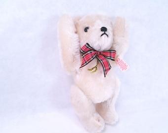 Hermann Teddy Bear White Vintage 80s