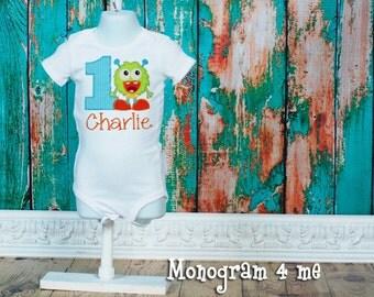Monster 1st birthday shirt bodysuit - Little Monster - Birthday Shirt