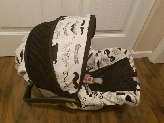 Baby Boy Infant car seat Cover Mustache car seat cover Custom Baby Boy Car Seat Covers