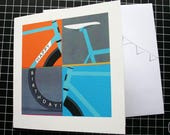 Bicycle Birthday Card with Bunting