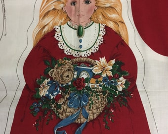 Vintage Christmas Angel Sewing Panel by Cranston Print Works Company
