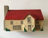 1940s Folk Art Toy Wooden Building House Leroy Novelty North Wales PA Pennsylvania