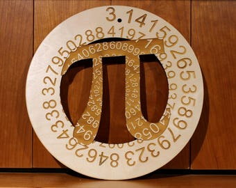 Pi 3.14 Wall Art, Warm Pot Trivet, Pattern T10, Laser Engraved, Paul Szewc, Masterpiece Laser