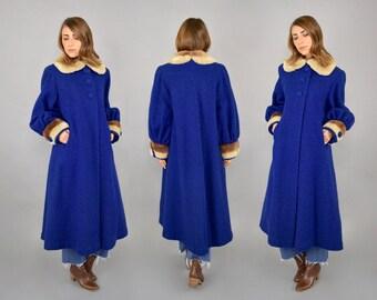 Bouclé Wool + Faux Fur Coat