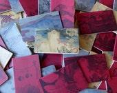 Set of THREE Lg Hand Printed Moleskine Journals