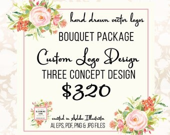 Custom Logo Design - Branding Package Branding Board Business Card and Facebook Design Graphic Design Logo Hand Drawn Logo Design