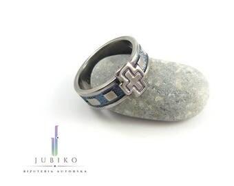 Titanium handmade ring - Rosary