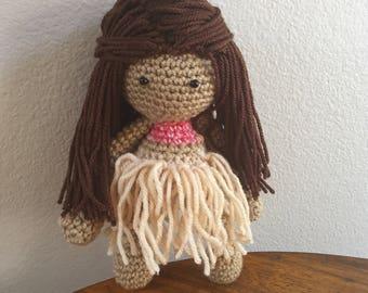 Moana Inspired Doll/ Moana Doll/Moana Stuffed Doll Toy/Soft Toy Doll/ Plush Toy/ Stuffed Toy Doll/ Amigurumi Doll/ Baby Doll-  MADE TO ORDER