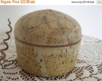 Vintage Pottery Jewelry Container Signed Home Decor New Orleans Vintage Shop Holiday Retro Vintage