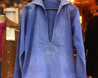 1930 French Sailor Fisherman Indigo Jacket