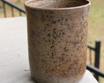 Salt Glazed Pottery Utensil Holder