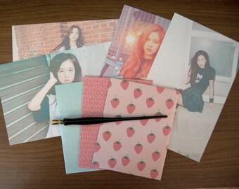 Black Pink debut teaser stationery set