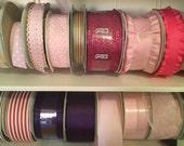 Assorted lot of crafting Ribbon, Trim, Large Lot of ribbons for crafting, Gift Wrapping Ribbons, 50 Assorted Yard Lot