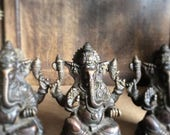 ON SALE Ganesh Ganesha Solid Brass Statue 4 inches Tall Remover of Obstacles Shipping Included in the U.S.