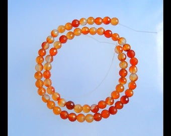 Red Agate Gemstone  Faceted Necklace,Faceted Loose Bead,1 Strand,39cm In the Lenght,6x6mm,20.7g(b0524)