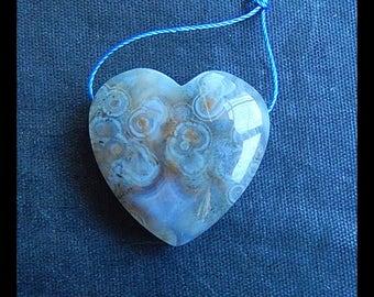 Agate Heart Pendant Bead,Heart Pendant,27x9mm,9.1g(b0575)