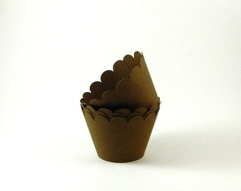 Chocolate Brown Cupcake Wrapper Party Supplies Table Decor