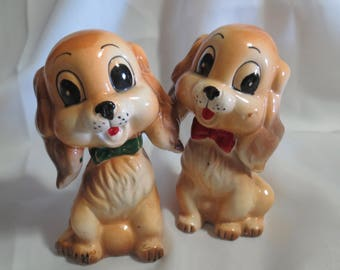 Vintage Commodore Dog Salt and Pepper Shakers