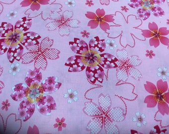 Sale Japanese kimono design fabric One yard