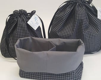 Cupcake Bags - Houndstooth, Available in three sizes