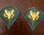 Pair of US Army Rank Specialist Patches , 1960's Vietnam Era - E4 Badge