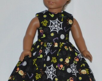 Black Halloween Party Doll Dress Made To Fit 18 Inch American Girl Doll Clothes